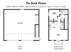 House Plans Floor Plan The Bunk Garage Simplicity Homes Home Pinterest