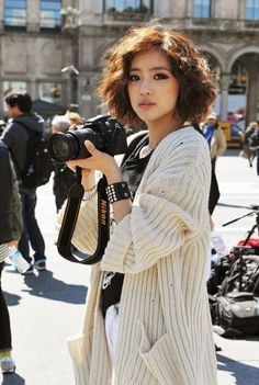Short Curly Asian Hairstyle