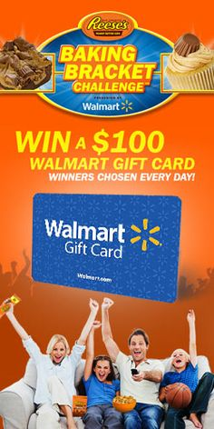 #Win a $100 #Walmart Gift #Card Daily! #shoppingspree #giveaway #contest VALID UNTIL APRIL 7