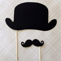 Moustache Party hat and stache... I want to do this for the boys birthdays this year!