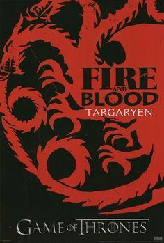 - Game of Thrones - Targaryen - art prints and posters