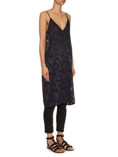 Deep V-neck fil coupé slip dress | Raey | MATCHESFASHION.COM