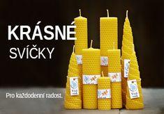 Svíčky ze včelího vosku - krásný dárek