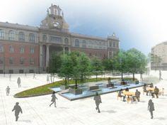 Proposta per il rinnovamento di Plaza Universidad in Murcia.