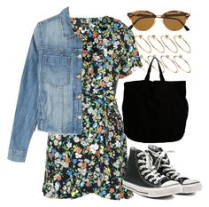"""""""Untitled #6121"""" by rachellouisewilliamson ❤ liked on Polyvore featuring Topshop, Current/Elliott, Converse, ASOS, DRKSHDW and Ray-Ban"""