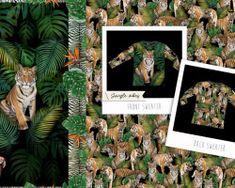 Digital tricot Qjutie tiger green