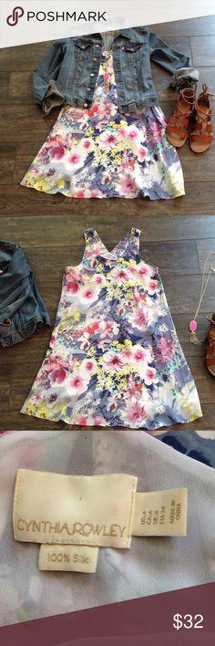 Cynthia Rowley floral dress  EUC, lined, 100% silk Cynthia Rowley Dresses