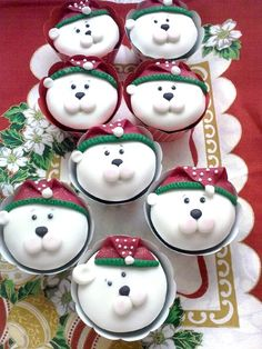 Polar Bear Christmas Cupcakes Remember, just one happy bite at a time!