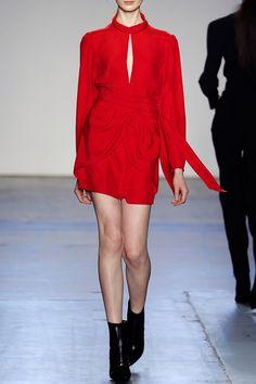 Giulietta Fall Winter 2016 short red silk dress - FALL WINTER 2016 GIULIETTA - in preo on www.PRECOUTURE.com