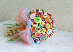 Lollipop Love Button Bouquet & Grooms Butto... - Folksy