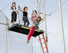 Trapeze class, perfect for a night with the girls! Always wanted to do this!