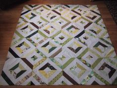 "Instructions for ""Summer in the Park""-like quilt.  Distant Pickles: Tube Quilting - The Karen Way"
