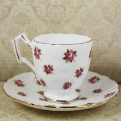 Vintage Aynsley Rosedale English Bone China Demi by scdvintage, $30.00