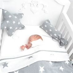 <3 Baby's Only wiegdeken met ster lichtgrijs