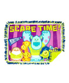 Look what I found on #zulily! Monsters University 'Scare Time' No Sew Fleece Throw Kit #zulilyfinds Monster University, Fleece Throw, Monsters, Monster Crafts, The Beast
