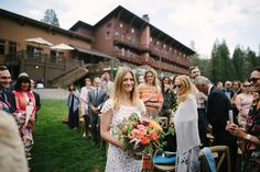 Kate and Taylor's Music Filled Sugar Bowl Tahoe Wedding with members of New York bands, the Cool Rulers and Turquaz. Rustic Flowers, Wild Flowers, Boho Wedding, Wedding Flowers, Great View, Sugar Bowl, Floral Design, Mountain, Photography
