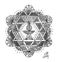 Zentangle Chalice by Cynthia Landrum -- #100: Mandala