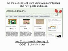New Classroom Displays Site, video guide