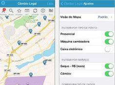 Aplicativo faz conversão de moedas e localiza casas de câmbio!  www.jamilcreditur.blogspot.com.br