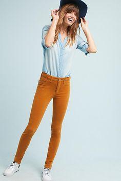 Slide View: 1: Pilcro Corduroy High-Rise Skinny Jeans
