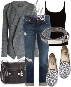 gray and leopard