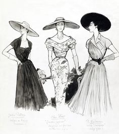 Fashion Sketch, by Marcel Fromenti