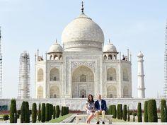 Prince William et Kate Middleton Visitez le Taj Mahal Après la princesse Diana