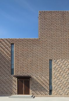 Image 4 of 29 from gallery of Pavilion 4 / HMA Architects & Designers. Photograph by Lvfeng photography Studio Detail Architecture, Brick Architecture, Amazing Architecture, Chinese Architecture, Architecture Office, Futuristic Architecture, Brick Design, Facade Design, Building Facade