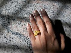 Golden paper ring