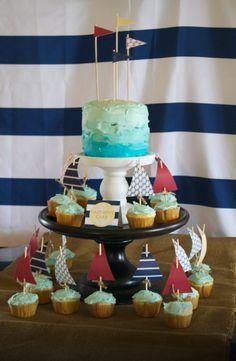 Jacks nautical food - birthday cake.