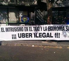 Así están siendo las primeras horas de huelga: el taxi en contra de Uber