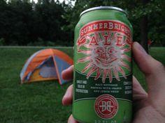 Breckenridge Brewery SummerBright Ale, 12 oz., 4.5% ABV. Tent: success. Fire: failure. Beer: success.