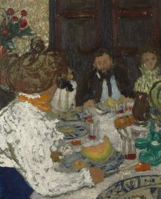 Edouard Vuillard, The Luncheon. Remembering French artist Edouard Vuillard, born on November 11, 1868. A founding member of the Nabi movement. Happy Yale University! http://www.flickr.com/photos/yaleuniversityartgallery/8176777637/in/photostream