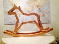 Rocking Horse Made From Birch Plywood And Walnut Plugs