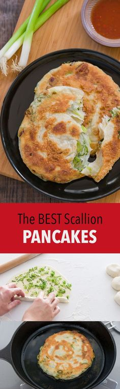 A great scallion pancake is crunchy on the outside and tender and a bit chewy on the inside. Loaded with scallions and redolent of toasted sesame oil, it makes for a great appetizer, snack, or meal on the go.