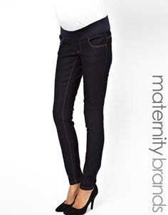 Maternity Skinny Jean in Rinse Wash. $30 (Get $15-50 off with minimum purchase.) #MaternityFashion