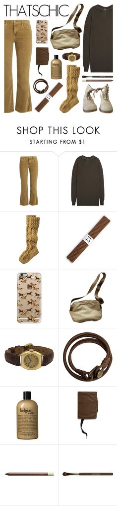 """""""Cozy"""" by deepwinter ❤ liked on Polyvore featuring Current/Elliott, Rick Owens, Toast, L'Objet, Magnolia Pearl, Casetify, Prada, H&M, philosophy and Merchant & Mills"""