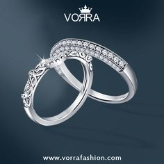 The Dazzle and Shine of silver rings will enamour your sole. #Rings #EngagementRings Shop now at : https://www.vorrafashion.com/