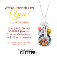 """This Holiday Season, we're thankful for YOU! Save $5.00 off your orders with coupon code """"THANKS"""" at checkout! Now - Thanksgiving!"""