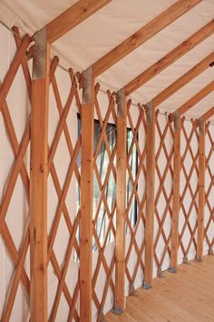 Perimeter Studs I may want to consider using studs to allow for better interior design. Silo House, Mud House, Building A Yurt, Building A House, Cabana, Yurt Interior, Yurt Tent, Bamboo Roof, Yurt Home