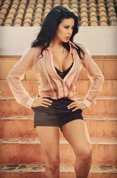 Camisa en seda Palo de rosa y short en lino satinado strech !!!!