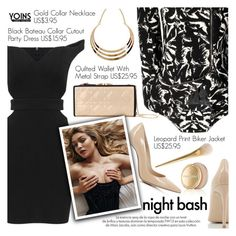"""Yoins 18:Night Bash"" by pokadoll ❤ liked on Polyvore featuring Gianvito Rossi, Estée Lauder, Louis Vuitton, women's clothing, women, female, woman, misses, juniors and yoins"