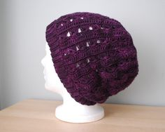 Broomstick lace #crochet hat pattern for sale on Ravelry from Kim Davidson; there's also a matching scarf pattern