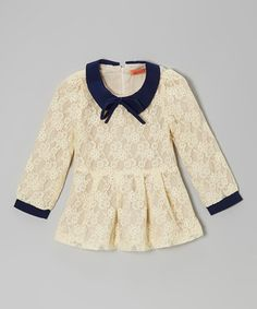 Lovely lace! Peplum, collar, vintage, hipster... what more could a girl ask for?
