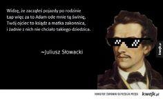 Słowacki vs Mickiewicz Poetry, Mens Sunglasses, Humor, Funny, Books, Fantasy, Cheer, Libros, Book