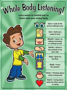 Whole Body Listening lesson idea - from the blog Speak Listen Play