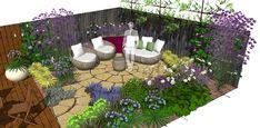 An overgrown garden in Howe Green - tidying and redesigning - Earth Designs Garden Design and Build Landscape Design, Garden Design, Cuprinol Garden Shades, Circular Patio, Sandstone Paving, Hardwood Decking, Fiberglass Planters, Earth Design, Family Garden