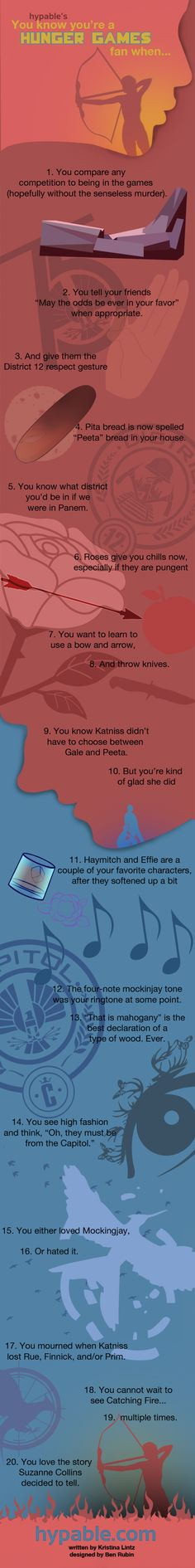 You know Katniss didn't have to choose between Peeta and Gale, but you're kind of glad she did... I know this story is about so much more than a love triangle, but peeta and Katniss are amazing!