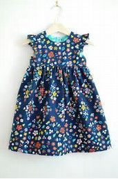 Sewing Dresses Geranium Dress pattern used Sewing Patterns For Kids, Sewing For Kids, Baby Sewing, Clothing Patterns, Fabric Patterns, Little Girl Dresses, Girls Dresses, Baby Dresses, Little Girl Dress Patterns