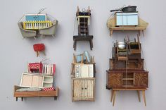 Charming little collection of dollhouse furniture